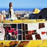 Park Guell in Barcelona, Spanien Lizenzfreie Stockfotos