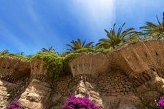 Park Guell - Barcelona Spanien Stockfotos