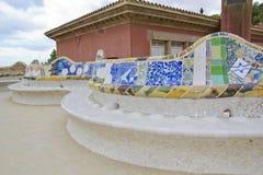 Park Guell, Barcelona Spanien Stockbilder