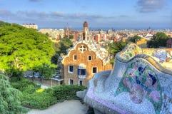 Park Guell, Barcelona, Spanje stock fotografie