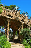 Park Guell, Barcelona, Spanje stock afbeeldingen