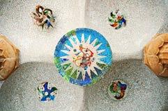 Park Guell, Barcelona - Spanje royalty-vrije stock foto