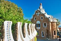 Park Guell in Barcelona, Spanje. Royalty-vrije Stock Fotografie