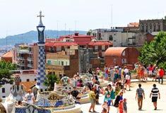 Park Guell in Barcelona, Spanje Stock Fotografie