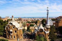Park Guell in Barcelona, Spanje Royalty-vrije Stock Foto