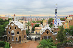 Park Guell, Barcelona, Spanje Stock Afbeelding