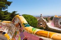 Park Guell - Barcelona Spanje royalty-vrije stock foto's