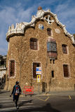 Park Guell in Barcelona, Spanje Stock Afbeelding