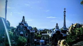 Park guell barcelona royalty free stock images