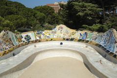 Park Guell in Barcelone, Spain Royalty Free Stock Photography