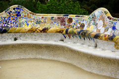 Park Guell ceramic branches Stock Photography