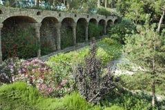 Park Guell door Antoni Gaudi, Barcelona, Spanje Stock Afbeeldingen