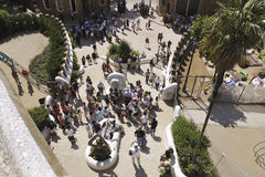 Park Guell entrance royalty free stock photo