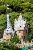 Park Guell entrance pavilions Royalty Free Stock Images