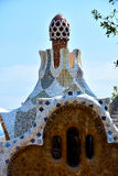 Park Guell gatehouse Stock Photography