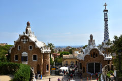 Park Guell gatehouses Stock Photography