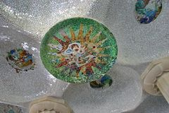 Park Guell - Gaudi Mosaic Royalty Free Stock Photos