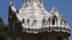Park Guell house elements Stock Image