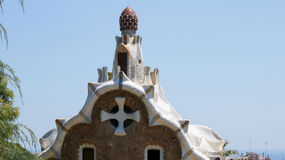 Park Guell house roof Royalty Free Stock Images