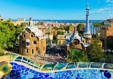 Park Guell i Barcelona Royaltyfria Bilder