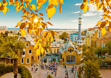 Free Park Guell In Barcelona, Spain. Royalty Free Stock Images - 44209029