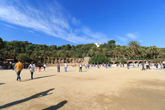 Park Guell main terrace in Barcelona Stock Photo