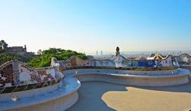Park Guell mosaics royalty free stock image