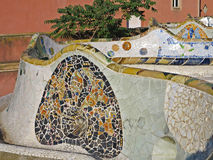 Park Guell mosaics stock images