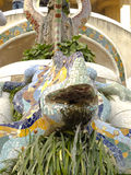Dragon by Park Guell. Barcelona. Royalty Free Stock Photos