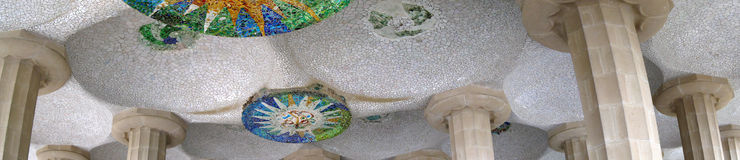 Park Guell Panorama Royalty Free Stock Photo