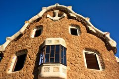Park Guell pavilion, Barcelona, Spain Royalty Free Stock Image
