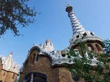 Park Guell Pavillion Royalty Free Stock Photo