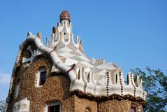 Park Guell Pavillion Stock Photo