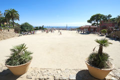 Park Guell plateau, Barcelona, Spain Royalty Free Stock Photo