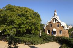 Park Guell Casa del Guarda royalty free stock images