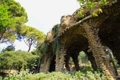Park Guell. A section of Park Guell designed by Antonio Gaudi in Marcelona royalty free stock image