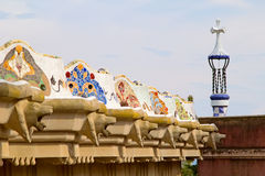Park Guell serpentine bench Stock Image