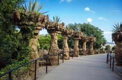 Park Guell, Spanje Stock Foto