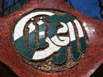 Park Guell Symbol in Barcelona. Symbol of Park Guell in Barcelona Stock Images