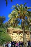 Park Guell-Szene, Barcelona Stockfoto