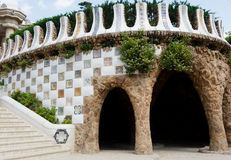 Park Guell, the town art designed by Antoni Gaudi, Barcelona, Spain royalty free stock photos