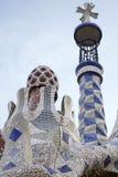 Park Guell-Turm Stockfotos