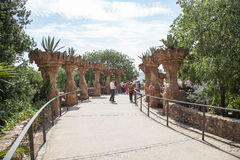 Park Guell viaducts in Barcelona, Spain Royalty Free Stock Photography