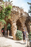 Park Guell viaducts in Barcelona, Spain Royalty Free Stock Photos