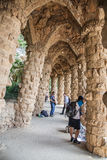 Park Guell viaducts in Barcelona, Spain Stock Photo