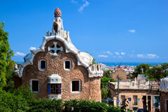 Park Guell, view on Barcelona Royalty Free Stock Photos