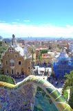 Park Guell view ,Barcelona Stock Photos