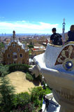 Park Guell viewpoint ,Barcelona Stock Photo