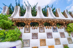Park Guell wall Stock Photo