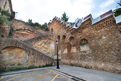 Park Guell wall Stock Photography